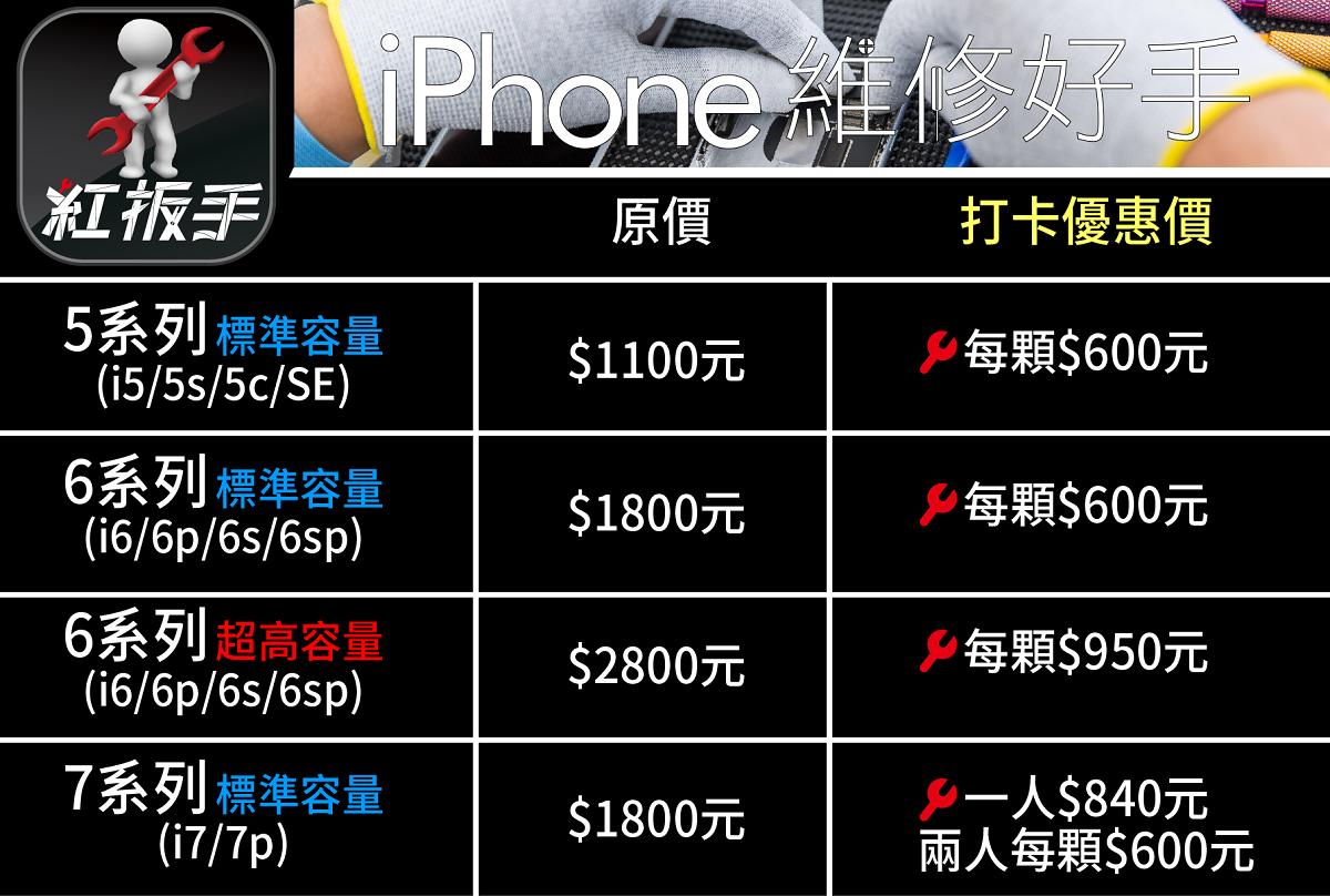 LINE用電池價格表-02-1200